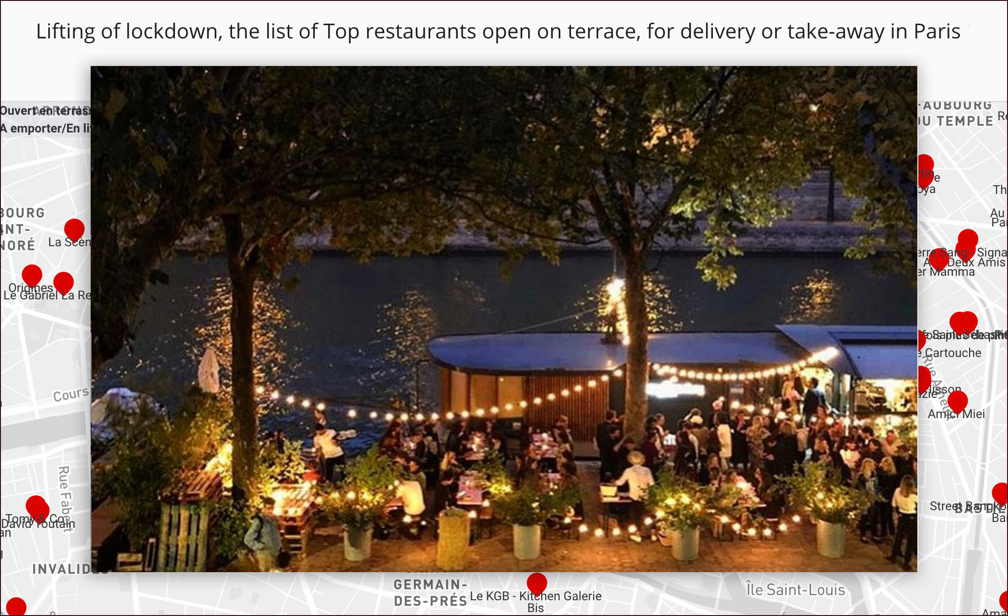 Covid-19, The best restaurants open on the terrace, delivery and take-away in Paris!