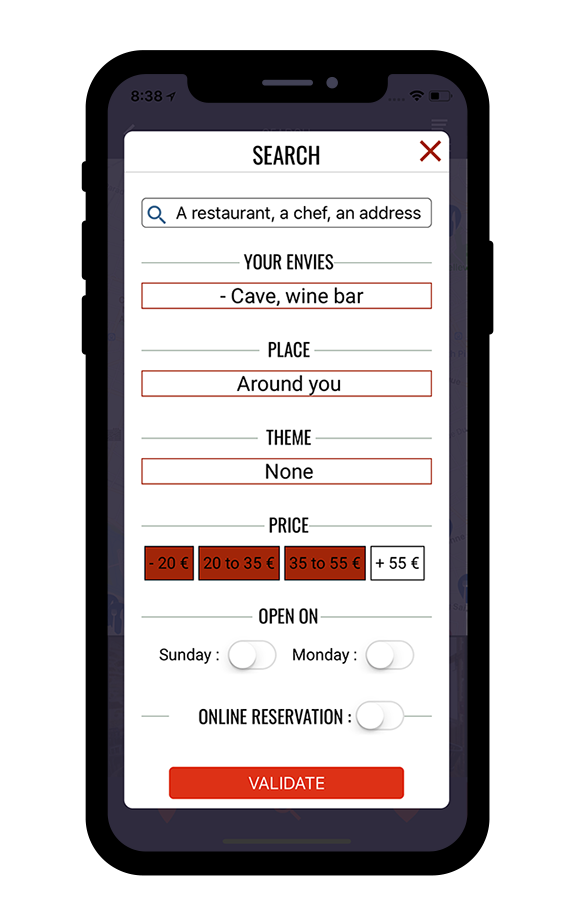 Advanced search for the best restaurants
